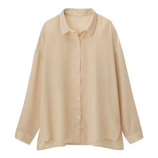 ジーユー(GU)の新作!シアーオーバーサイズシャツ꙳★*゚gu(シャツ/ブラウス(長袖/七分))