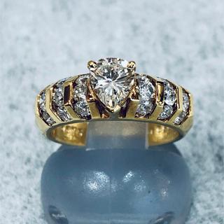 神戸老舗宝石店より驚きの低価格、洗練されたデザインのYGダイヤリングをお届け (リング(指輪))