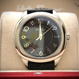 Salvatore Ferragamo - 超特価!フェラガモ/新品10万 レディース革ベルト腕時計BLACK~スイス製