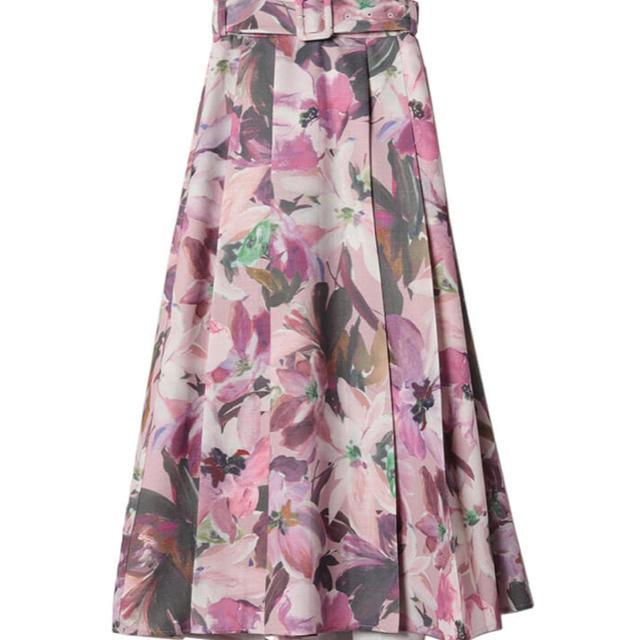 eimy istoire(エイミーイストワール)のエイミーイストワール ベルトスカート レディースのスカート(ロングスカート)の商品写真
