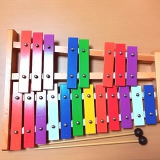 EMUL エミュール カラフル鉄琴 グロッケン 半音付き 子供用 おもちゃ