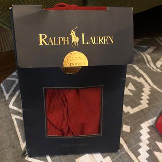 ポロラルフローレン(POLO RALPH LAUREN)の新品 ラルフローレン  赤タイツ S〜L(タイツ/ストッキング)