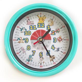 ポケモン 分入り 掛け時計 ミントブルー