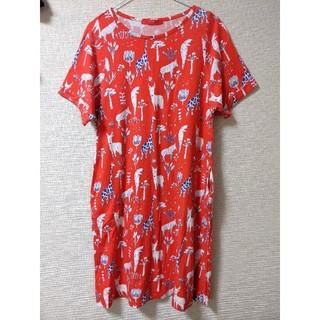 グラニフ(Design Tshirts Store graniph)のgraniph❖アニマル柄 Tシャツ ワンピース(ひざ丈ワンピース)