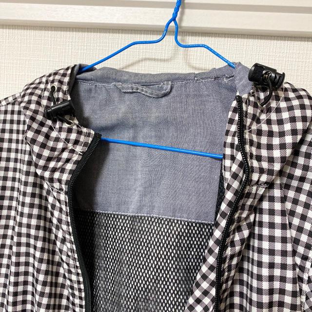 GU(ジーユー)のGU レディース ナイロンパーカー ブルゾン ギンガムチェック Sサイズ レディースのジャケット/アウター(ブルゾン)の商品写真
