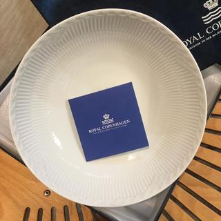 ロイヤルコペンハーゲン(ROYAL COPENHAGEN)のロイヤルコペンハーゲン ホワイトフルーテッドハーフレース(食器)