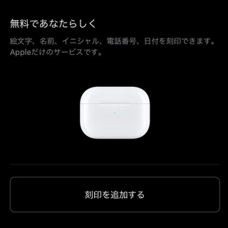 Apple - airpods Pro〈完全純正品刻印可能〉