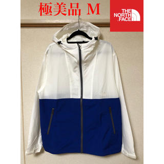THE NORTH FACE - 【極美品】THE NORTH FACE ザノースフェイス コンパクト 白×青 M
