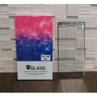 金 ギャラクシー NOTE8  ノート9強化ガラス 全面保護フィルム