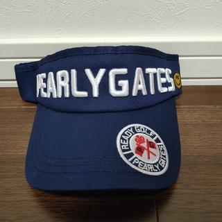 PEARLY GATES - PEARY GATES ゴルフキャップ(サンバイザー) ネイビー