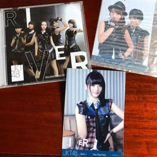 エーケービーフォーティーエイト(AKB48)のRIVER CD DVD JKT ジャカルタ インドネシア(アイドルグッズ)
