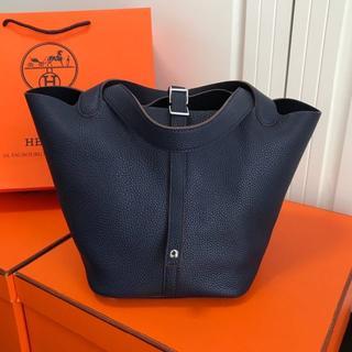 Hermes - 使いやすいお色ネイビーピコタンロック22ハンドバッグ