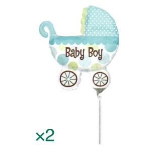 BABY BOY バルーンスティック付き 2点セット 出産祝い 男の子 バルーン(その他)