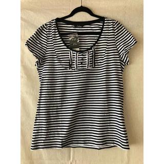 【新品】4Lサイズ ボーダーTシャツ(Tシャツ(半袖/袖なし))