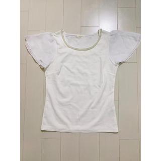 アストリアオディール(ASTORIA ODIER)の襟パール付き半袖カットソー(カットソー(半袖/袖なし))