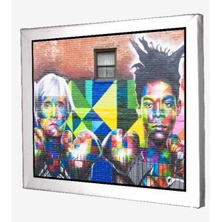 80-バスキア Basquiat アンディウォーホル キャンバスアート 模写(ボードキャンバス)