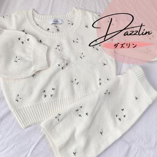 dazzlin - dazzlin マーガレット刺繍ニット セットアップ