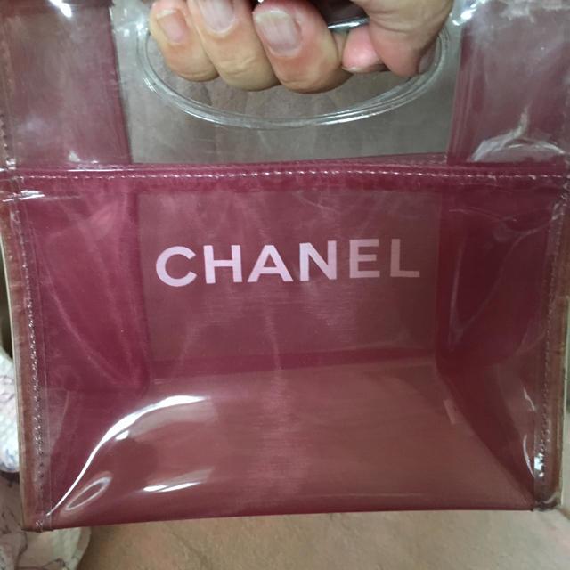 CHANEL(シャネル)のシャネル   ノベルティ  クリアバッグ  クリアポーチセット レディースのバッグ(トートバッグ)の商品写真
