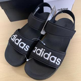 adidas - 新品 アディダス アディレッタ サンダル ブラック 24