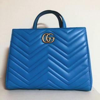 Gucci - GUCCI グッチ  シェブロン ハンドバッグ
