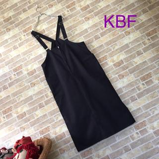KBF - KBF【美品】フロントZIPサスペンダースカート