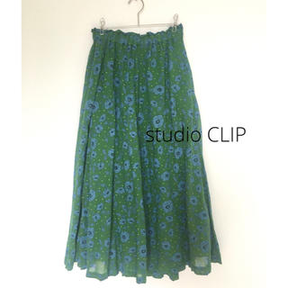 STUDIO CLIP - studio CLIP スタディオクリップ コットンマキシ丈スカート