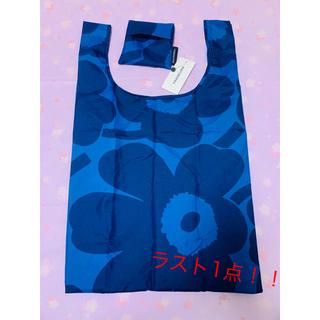 marimekko - マリメッコ エコバッグ ウニッコブルー×ダークブルー