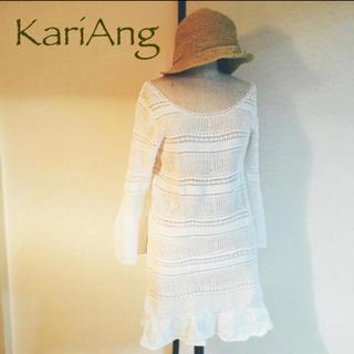 カリアング(kariang)のL178 カリアング コットン 総レース ワンピース KariAng 白 M(カットソー(長袖/七分))
