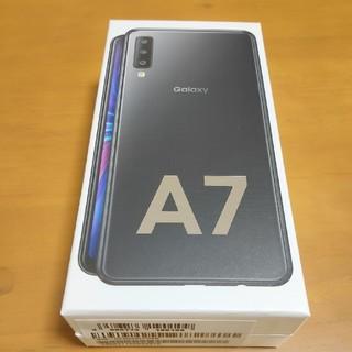 新品 未使用 Galaxy A7 ブラック