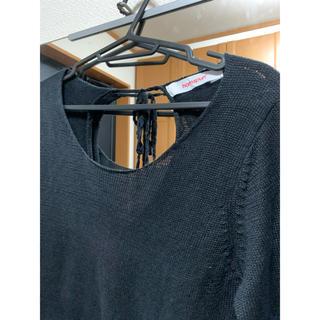 ネストローブ(nest Robe)のホームスパン リネンカットソー  黒(カットソー(長袖/七分))