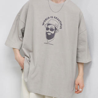 ハレ(HARE)のkutir おじさんシルエットTシャツ(Tシャツ/カットソー(半袖/袖なし))