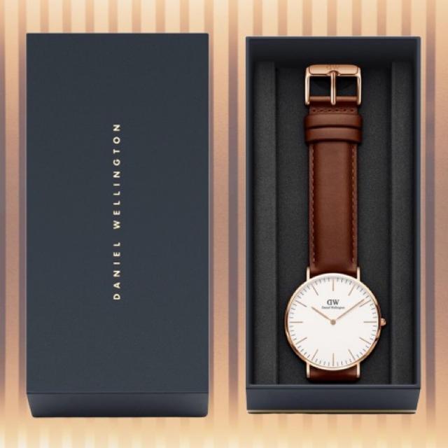 Daniel Wellington(ダニエルウェリントン)の保証付き【40㎜】ダニエルウェリント 腕時計〈DW00100006〉0106 メンズの時計(腕時計(アナログ))の商品写真