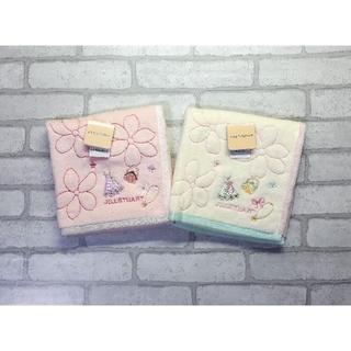 JILLSTUART - 送料無料■ジルスチュアート■桜×ドレス柄 タオルハンカチ■2枚セット