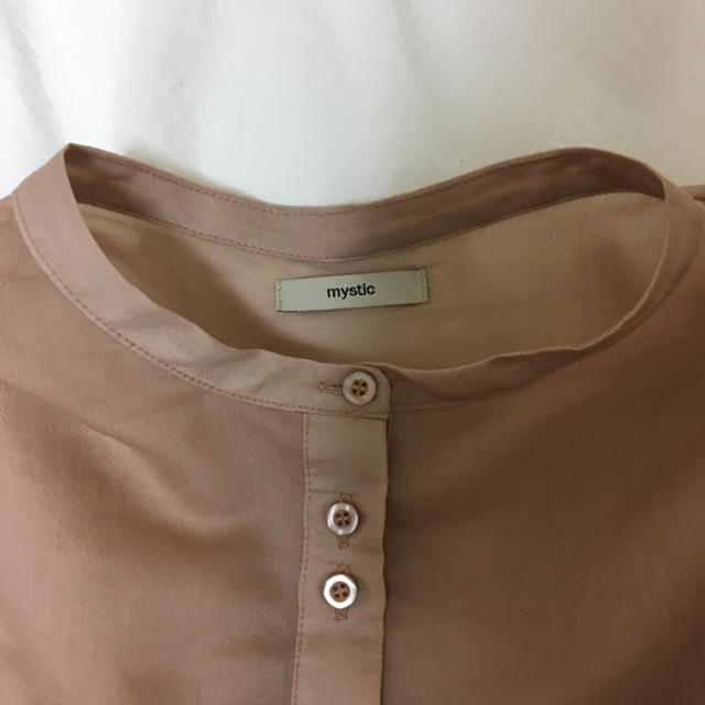 mystic(ミスティック)のmystic シアーノーカラーシャツ レディースのトップス(シャツ/ブラウス(長袖/七分))の商品写真