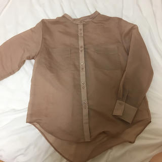mystic - mystic シアーノーカラーシャツ