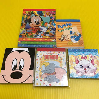 Disney - ディズニー メモ メモ帳 まとめ売り 空飛ぶダンボ おしゃれキャット ミッキー