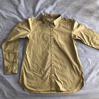 MUJI (無印良品) - 無印良品 シャツ長袖 カーキ L
