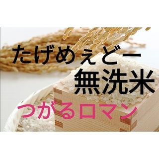 【送料無料】極上米 令和元年 秋収穫 青森県平賀産 つがるロマン 無洗米 (米/穀物)