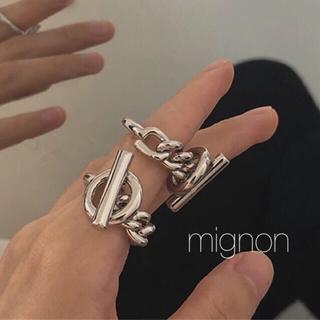 Hermes - croisette ring 《silver》
