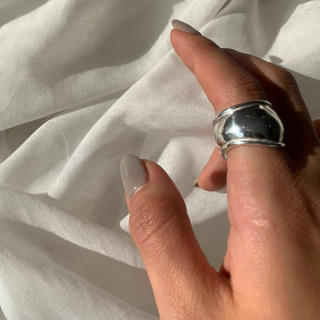 TODAYFUL - 【RG-5A】Silver925 wide plump ring-silver-