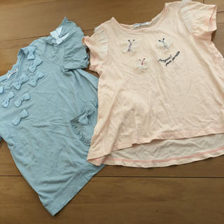 pom ponette - ポンポネット 120センチTシャツ 2点セット♡