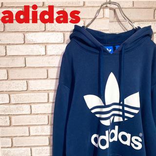adidas - 《美品》アディダス パーカー プルオーバー ビッグロゴ XL 90s