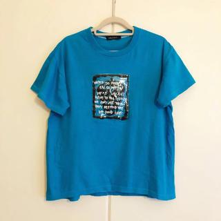 ミルクボーイ(MILKBOY)の【MILKBOY ミルクボーイ】イチゴ(ストロベリー) のかわいいTシャツ 青(Tシャツ/カットソー(半袖/袖なし))