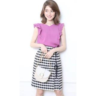Rirandture - 《美品》リランドチュール◆ギンガムチェックタイトスカート size1