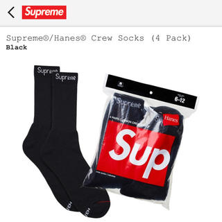 Supreme - 【1足】Supreme Hanes Crew Socks シュプリーム ソックス