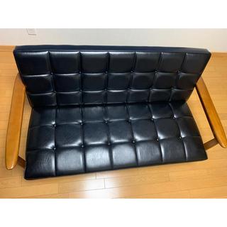 カリモクカグ(カリモク家具)のtom様専用 カリモク60 Kチェア 2シーター ブラック 座面 新品(二人掛けソファ)