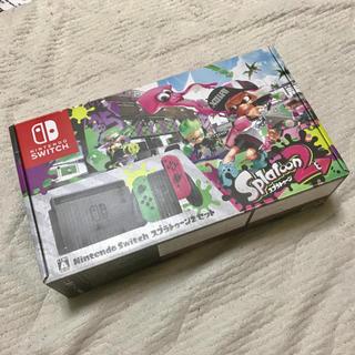 ニンテンドースイッチ(Nintendo Switch)の【美品】Nintendo Switch スプラトゥーン2セット(家庭用ゲーム機本体)