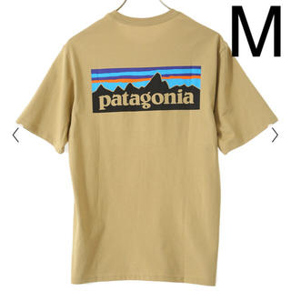 パタゴニア(patagonia)のパタゴニア Tシャツ 新品 M p-6 ロゴ クラシック タン CSC(Tシャツ/カットソー(半袖/袖なし))