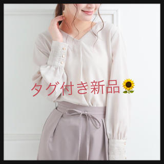 clear - clear*クリア レースカフスブラウス*新品タグ付き