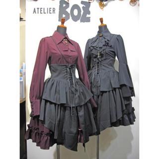 アトリエボズ(ATELIER BOZ)の大人気廃盤品 ATELIER BOZ ヴェローナミニスカート 黒×黒(ひざ丈スカート)